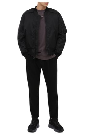 Мужской брюки KAZUYUKI KUMAGAI черного цвета, арт. AP03-211   Фото 2