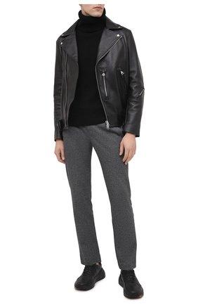 Мужской хлопковые брюки CAPOBIANCO серого цвета, арт. 9M737.AL00.   Фото 2