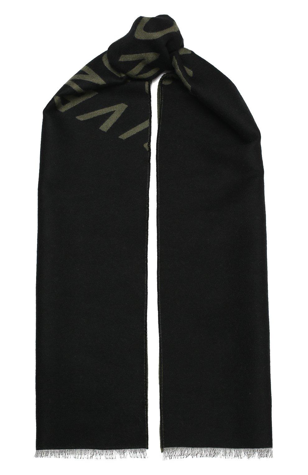 Мужской шарф из шерсти и шелка GIVENCHY хаки цвета, арт. GV3518/J3047 | Фото 1