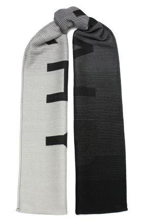 Мужской шарф из шерсти и шелка GIVENCHY черного цвета, арт. GV3518/J3050 | Фото 1