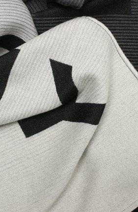 Мужской шарф из шерсти и шелка GIVENCHY черного цвета, арт. GV3518/J3050 | Фото 2