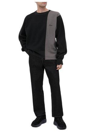 Мужской хлопковый свитшот AMBUSH темно-серого цвета, арт. BMBA003F20FAB001 | Фото 2