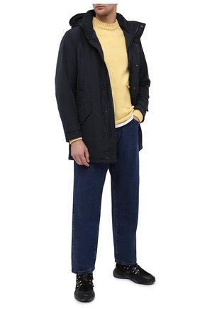 Мужская утепленная парка ASPESI темно-синего цвета, арт. W0 I 9I12 7981 | Фото 2 (Кросс-КТ: Куртка, Пуховик; Мужское Кросс-КТ: пуховик-короткий, Пуховик-верхняя одежда, Верхняя одежда; Рукава: Длинные; Материал внешний: Синтетический материал; Материал подклада: Синтетический материал)
