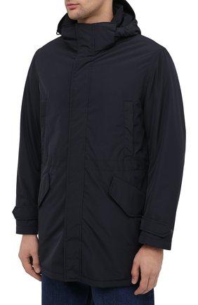 Мужская утепленная парка ASPESI темно-синего цвета, арт. W0 I 9I12 7981 | Фото 3 (Кросс-КТ: Куртка, Пуховик; Мужское Кросс-КТ: пуховик-короткий, Пуховик-верхняя одежда, Верхняя одежда; Рукава: Длинные; Материал внешний: Синтетический материал; Материал подклада: Синтетический материал)