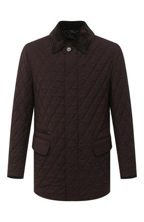 Мужская куртка из шерсти и шелка BRIONI темно-коричневого цвета, арт. SFP50L/09A20 | Фото 1