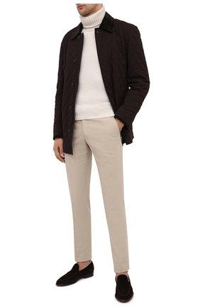 Мужская куртка из шерсти и шелка BRIONI темно-коричневого цвета, арт. SFP50L/09A20 | Фото 2