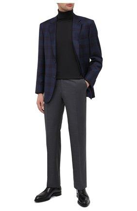 Мужские шерстяные брюки BRIONI серого цвета, арт. RPL23X/PZA0P/M0ENA | Фото 2 (Материал подклада: Купро; Длина (брюки, джинсы): Стандартные; Материал внешний: Шерсть; Случай: Формальный; Стили: Классический)