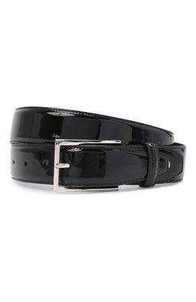 Мужской кожаный ремень BRIONI черного цвета, арт. 0BAV0L/09720 | Фото 1