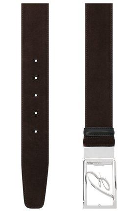 Мужской замшевый ремень BRIONI темно-коричневого цвета, арт. 0BAS0L/09722 | Фото 2
