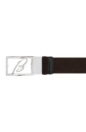 Мужской замшевый ремень BRIONI темно-коричневого цвета, арт. 0BAS0L/09722 | Фото 3