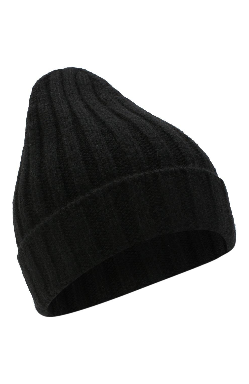 Мужская кашемировая шапка BRIONI черного цвета, арт. 04M80L/09K33 | Фото 1