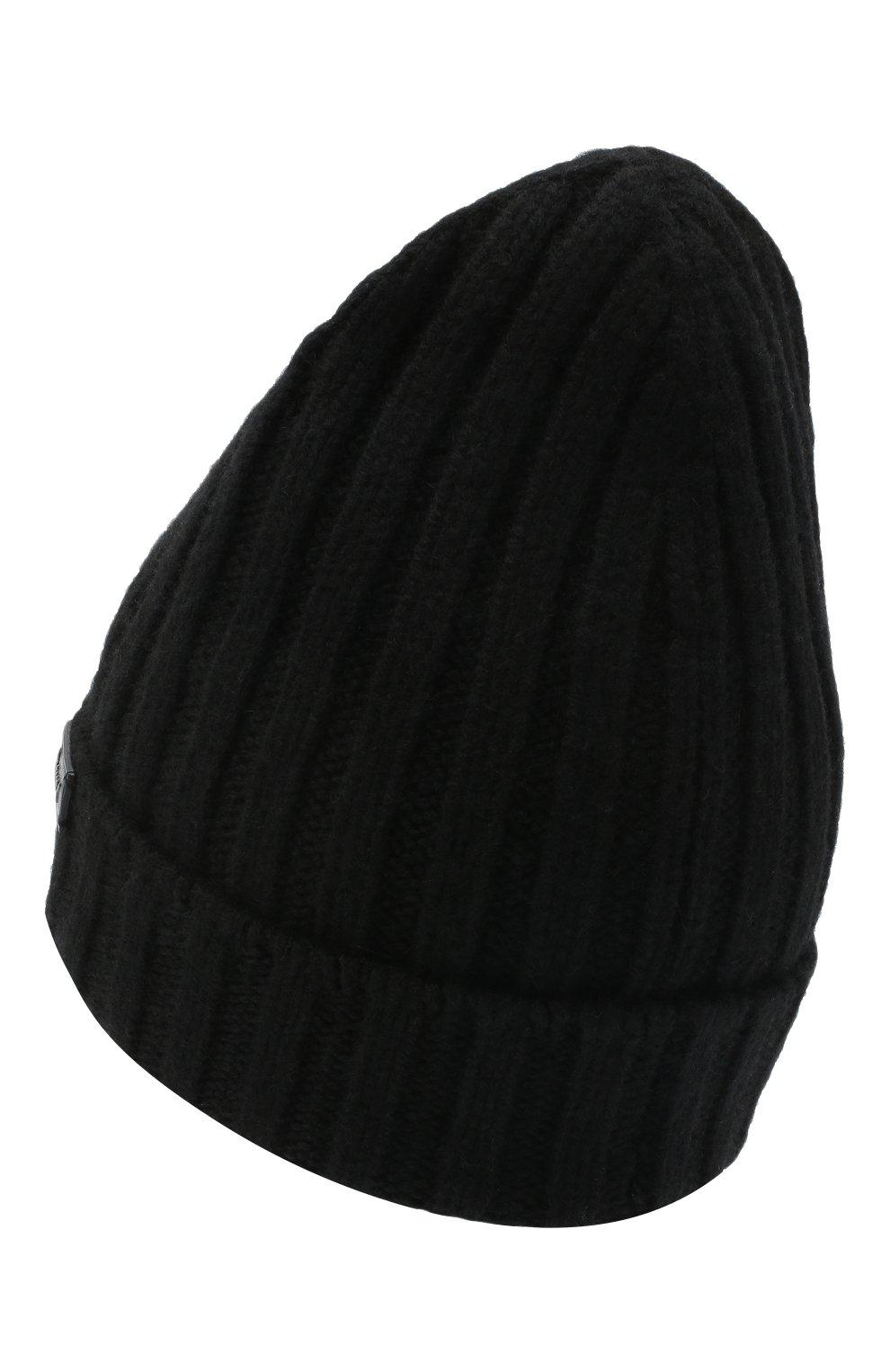 Мужская кашемировая шапка BRIONI черного цвета, арт. 04M80L/09K33 | Фото 2