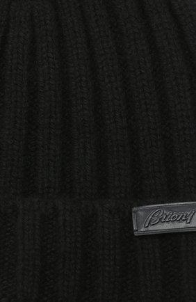 Мужская кашемировая шапка BRIONI черного цвета, арт. 04M80L/09K33 | Фото 3
