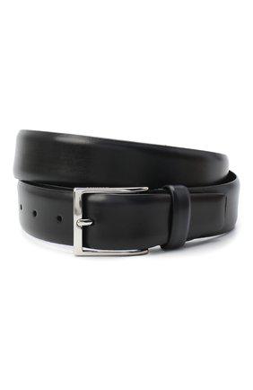 Мужской кожаный ремень BARRETT черного цвета, арт. 31B336.25/BETIS CREAM | Фото 1