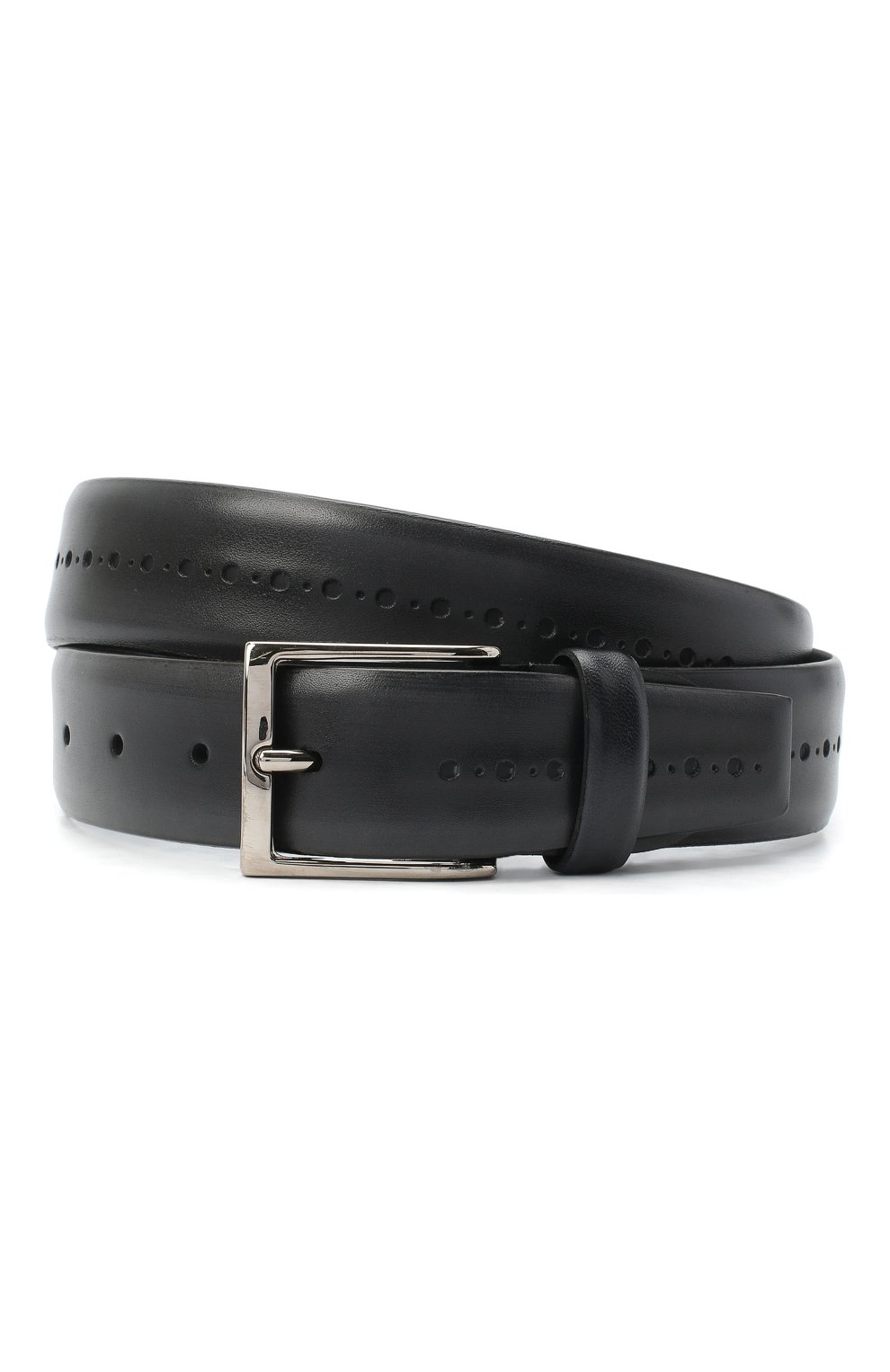 Мужской кожаный ремень BARRETT темно-серого цвета, арт. 71B529.1/BETIS CREAM   Фото 1