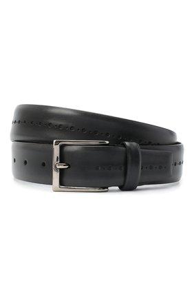 Мужской кожаный ремень BARRETT темно-серого цвета, арт. 71B529.1/BETIS CREAM | Фото 1