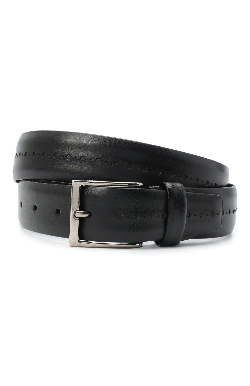 Мужской кожаный ремень BARRETT черного цвета, арт. 71B529.3/BETIS CREAM | Фото 1 (Случай: Формальный)