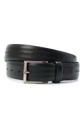 Мужской кожаный ремень BARRETT черного цвета, арт. 71B529.3/BETIS CREAM | Фото 1