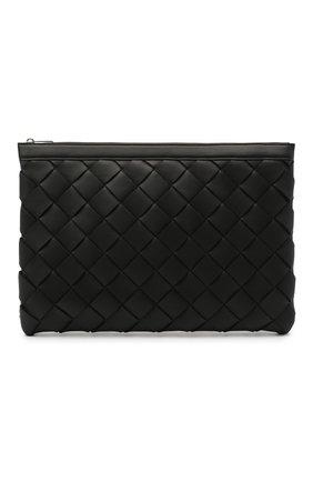 Мужская кожаный футляр для документов BOTTEGA VENETA черного цвета, арт. 641166/V05I1 | Фото 1