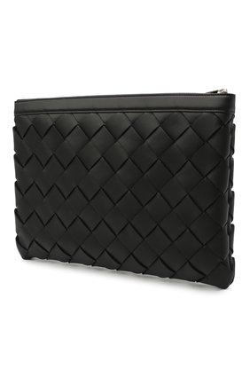 Мужская кожаный футляр для документов BOTTEGA VENETA черного цвета, арт. 641166/V05I1 | Фото 2