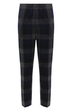 Мужские шерстяные брюки KENZO темно-серого цвета, арт. FA65PA5001RG | Фото 1 (Материал внешний: Шерсть, Синтетический материал; Материал подклада: Хлопок; Длина (брюки, джинсы): Стандартные; Случай: Повседневный; Стили: Кэжуэл)