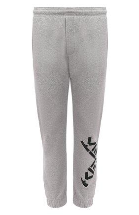 Мужской хлопковые джоггеры kenzo sport KENZO серого цвета, арт. FA65PA7124MS | Фото 1