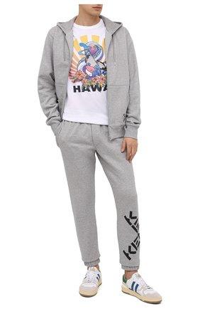 Мужской хлопковые джоггеры kenzo sport KENZO серого цвета, арт. FA65PA7124MS | Фото 2