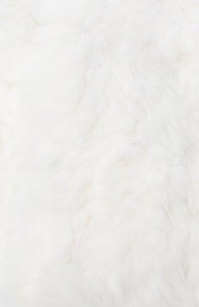 Детский меховой шарф YVES SALOMON ENFANT белого цвета, арт. 7WEA320XXKREX | Фото 2