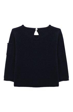Детский кашемировый пуловер OSCAR ET VALENTINE синего цвета, арт. PUL01ZEBRAS | Фото 2