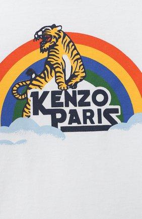 Детский хлопковый лонгслив KENZO разноцветного цвета, арт. KR10507 | Фото 3