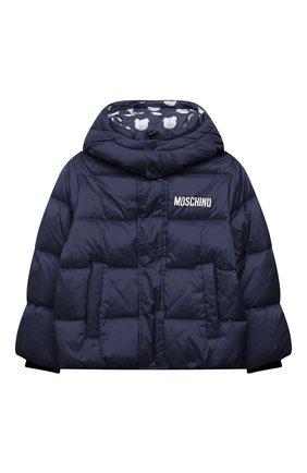 Детского пуховая куртка MOSCHINO синего цвета, арт. HUS02L/L3A22/4A-8A | Фото 1