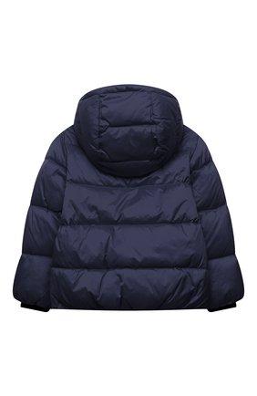 Детского пуховая куртка MOSCHINO синего цвета, арт. HUS02L/L3A22/4A-8A | Фото 2