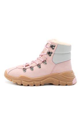 Детские кожаные ботинки EMPORIO ARMANI розового цвета, арт. XYZ003/X0R05/35-40 | Фото 2