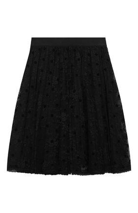 Детская юбка ERMANNO SCERVINO черного цвета, арт. 47I GN04 PIZ/4-8 | Фото 2