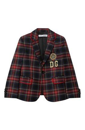 Детский шерстяной пиджак DOLCE & GABBANA разноцветного цвета, арт. L41J63/G7XBD/2-6 | Фото 1