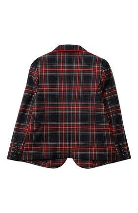 Детский шерстяной пиджак DOLCE & GABBANA разноцветного цвета, арт. L41J63/G7XBD/2-6 | Фото 2