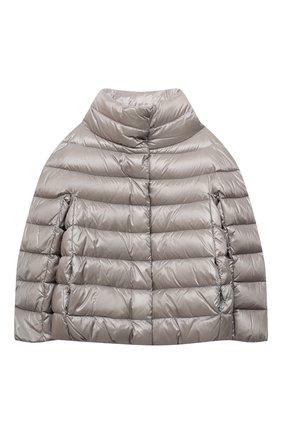 Детского пуховая куртка HERNO серого цвета, арт. PI0040G/12017/4A-8A | Фото 1
