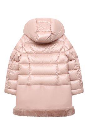 Детское пуховое пальто HERNO светло-розового цвета, арт. PI0106G/12017/4A-8A   Фото 2