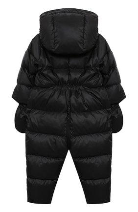 Детского пуховый комбинезон BURBERRY черного цвета, арт. 8014131/1M-9M | Фото 2