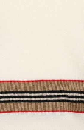 Детский шерстяной пуловер BURBERRY белого цвета, арт. 8033059 | Фото 3