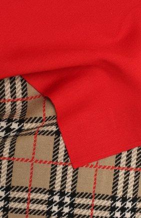 Детский шарф BURBERRY красного цвета, арт. 8033811 | Фото 2