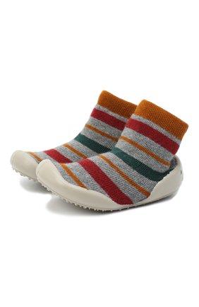 Детского домашние туфли COLLEGIEN разноцветного цвета, арт. 551A/18-35 | Фото 1