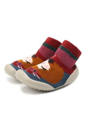 Детского домашние туфли COLLEGIEN разноцветного цвета, арт. 551E/18-35 | Фото 1