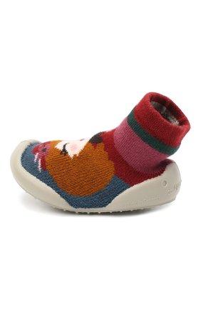 Детского домашние туфли COLLEGIEN разноцветного цвета, арт. 551E/18-35 | Фото 2
