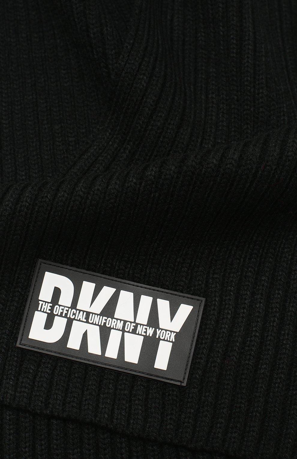 Детский шарф DKNY черного цвета, арт. D31268 | Фото 2