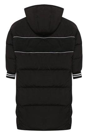 Детское утепленное пальто DKNY черного цвета, арт. D36628   Фото 2