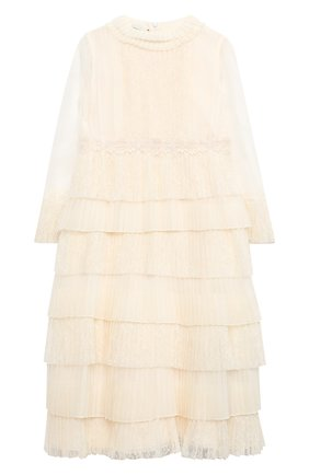 Детское платье GUCCI белого цвета, арт. 621090/ZAE5B   Фото 1