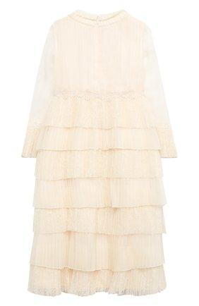 Детское платье GUCCI белого цвета, арт. 621090/ZAE5B   Фото 2