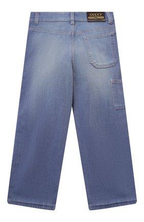 Детские джинсы GUCCI голубого цвета, арт. 615358/XDBA0   Фото 2
