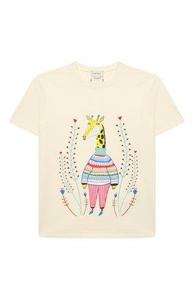 Детская хлопковая футболка GUCCI белого цвета, арт. 580991/XJCTP | Фото 1